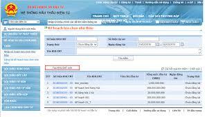 Thủ tục nộp hồ sơ dự thầu qua mạng theo phương thức một giai đoạn một túi hồ sơ